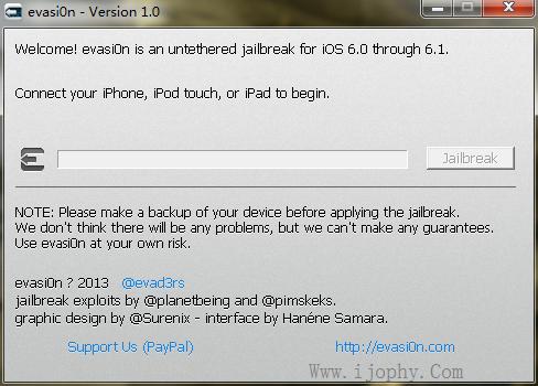 苹果iOS 6.X 越狱程序放出